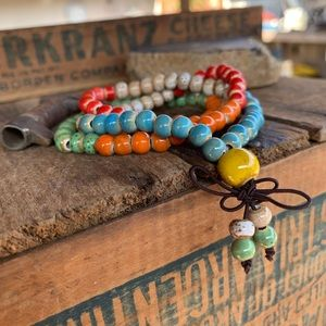 fire monkey Jewelry - ✨BOHO CERAMIC BEAD MULTI WRAP BRACELET✨